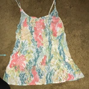 XS old navy floral summer tank top